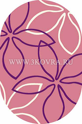 Ковер Vision deluxe v806 pink oval